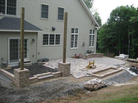 Prepare Porch Base for Pavers