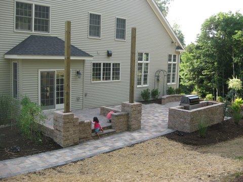 Complete Paver Patio & Porch